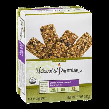 Nature's Promise Granola Honey Roasted Snack Bars - 12 CT