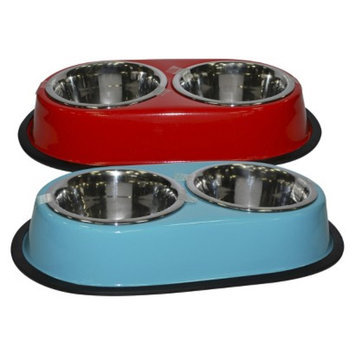 Boots & Barkley Double Diner Cat Bowl - Fish
