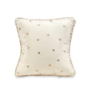 Glenna Jean Victoria Dot Throw Pillow in Mocha