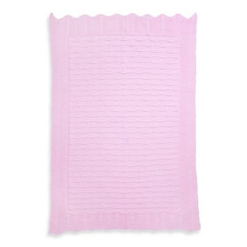 Elegant Baby Fancy Knit Baby Blanket in Pink
