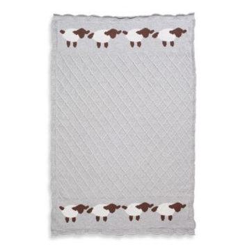 Elegant Baby Lattice Baby Blanket in Grey Lamb