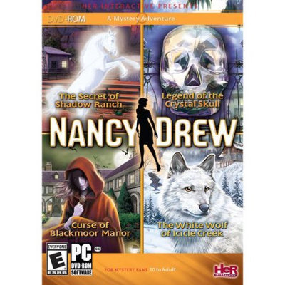 Her Interactive Nancy Drew 4 Pack: Secret of Shadow Ranch, Curse of Blackmoor Manor, White Wolf of Icicle Creek, Legend of the Crystal Skull