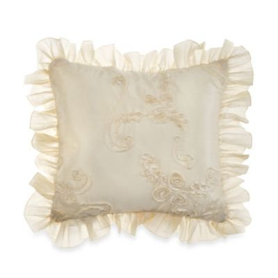 Glenna Jean Ava Pillow - Cream Ribbon with Ruffle