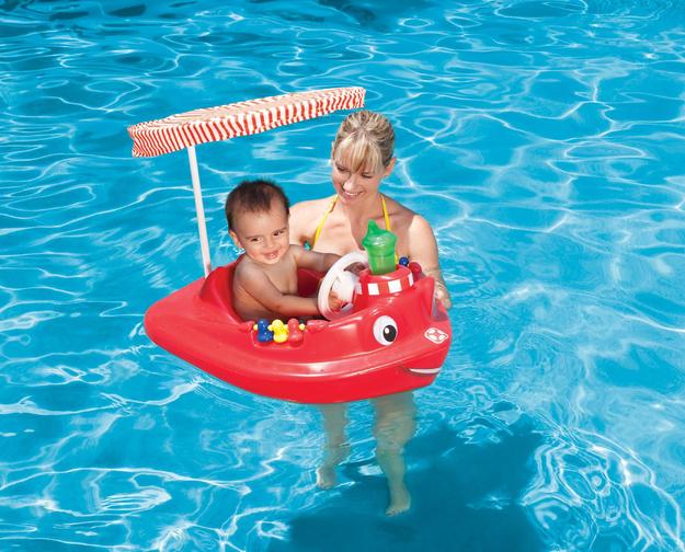 Swimways Baby Tug Boat W / Uv Spring Canopy