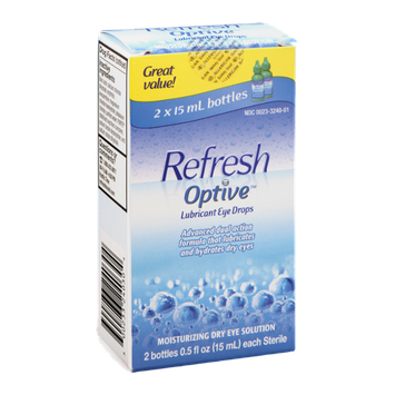 Refresh Optive Lubricant Eye Drops - 2 CT