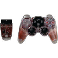DreamGear Lava Glow Wireless Controller for PS2 - Red