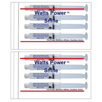Direct 2u Wholesale LLC 15 Minute Teeth Whitening - Watts Power 35% Teeth Whitening Gels - Same Results As 44% but Safer & Without the Sting - Optimized Dual Action for Deep & Surface Stains - 8 Huge 10ml Gels