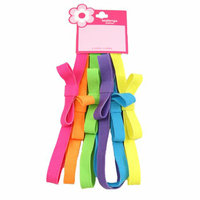 Girls' Neon Elastic Headwraps