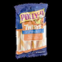 Polly-O Mozzarella & Cheddar Cheeses with 2% Milk Twists - 12 CT