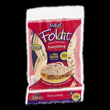 Flatout Foldit Artisan Flatbreads Everything - 6 CT