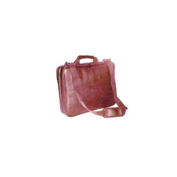 Aerovation CPFR-1A 15. 4 Brown Leather Checkpoint Friendly Laptop Bag