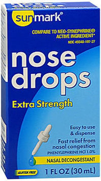 Sunmark Decongestant Nose Drops Extra Strength, 1 oz by Sunmark