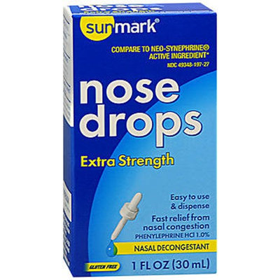Sunmark Decongestant Nose Drops Extra Strength, 1 oz by Sunmark