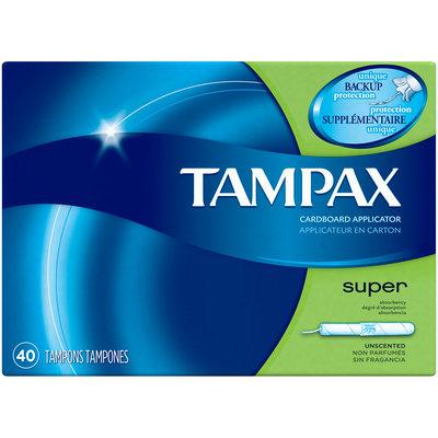 Tampax Cardboard Super Tampons, Unscented
