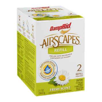 DampRid AirScapes Refill Fresh Scent - 2 CT