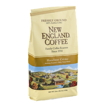 New England Coffee Hazelnut Creme Medium Roast Freshly Ground