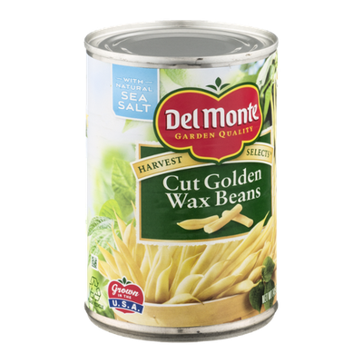 Del Monte Harvest Selects Cut Golden Wax Beans with Natural Sea Salt