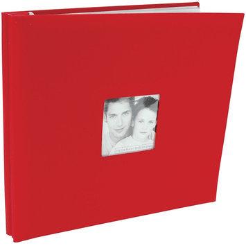 Mbi MBI Fashion Fabric Postbound 12x12 Scrapbook Album - Red