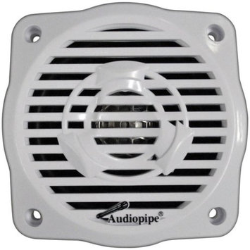 Audio Pipe Audiopipe APSW2504JS -1 Pair of 4in Coaxial 2-Way Marine Speakers and Amplifier Combo Pack