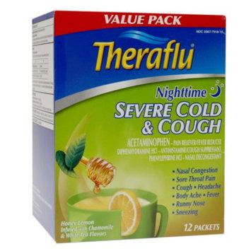 Novartis Consumer Health Theraflu Honey Lemon & White Tea Nighttime Severe Cold & Cough Pain