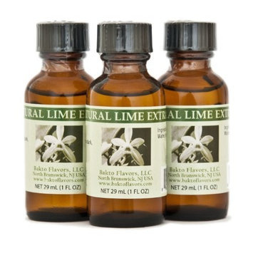Bakto flavors Natural Lime Extract(1FL OZ) Pack of 3