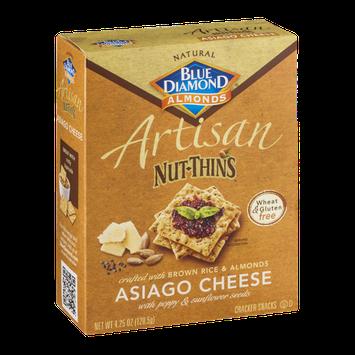 Blue Diamond Almonds Artisan Nut-Thins Crackers Asiago Cheese