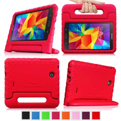 Fintie Light Weight Shock Proof Convertible Handle Stand Kids Friendly for Samsung Galaxy Tab 4 8.0 inch Tablet, Red