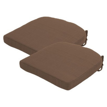 Threshold 2-Piece Outdoor Round Back Seat Cushion Set - Taupe