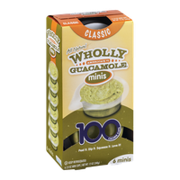 Wholly Guacamole Minis 100 Calorie Mini Cups Classic - 6 CT