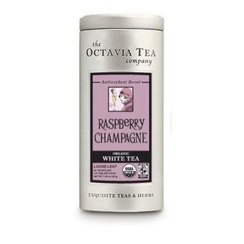 Octavia Tea Raspberry Champagne (Organic White Tea, Fair Trade), 1.48-Ounce Tin
