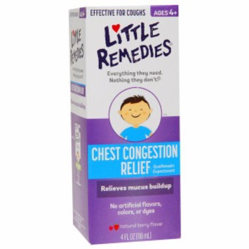 Little Remedies Chest Congestion Relief (Guaifenesin Expectorant), Natural Berry Flavor, 4 fl oz