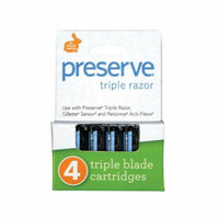 Preserve Products Preserve Triple Blade Refills Case of 6 4 Packs