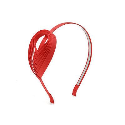 JUKO Headband with woven ribbon accent