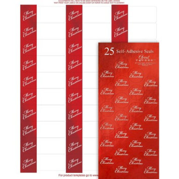 Hortense B. Hewitt Merry Christmas Foil Address Labels and Foil Seals (120 labels and 50