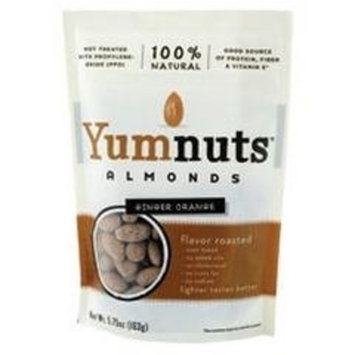 Yumnuts Naturals Flavor Roasted Almonds Ginger Orange -- 5.75 oz