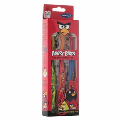 Angry Birds Suction Cup Toothbrushes