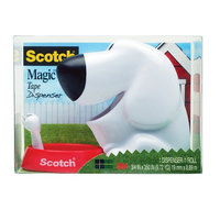 Scotch Dog Tape Dispenser - White/Red