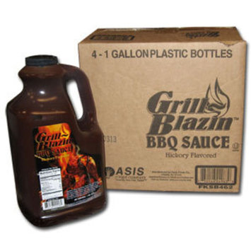 Oasis Foods Oasis Grill Blazin' Barbecue Sauce 1 Gallon Jars 4 / Case