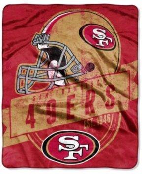 Northwest Company San Francisco 49ers Grand Stand Plush Throw Blanket