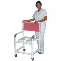 MJM International Bundle-68  Wide Deluxe Shower Chair with Open Front Soft Seat