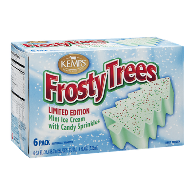 Kemps Frosty Trees Mint Ice Cream - 6 CT