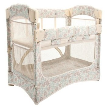 Arms Reach Arm's Reach Mini Arc Co-Sleeper Bedside Bassinet, Damask