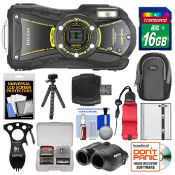 Ricoh WG-20 Shock & Waterproof Digital Camera, 8x22 Jupiter III+ Binoculars & Eat'n Tool Adventure Kit with 16GB Card + Case + Battery + Tripod + Float Strap Kit