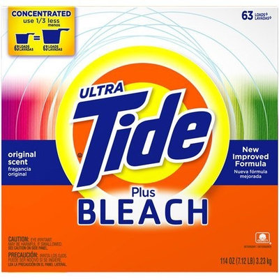 Tide Ultra Powder - with Bleach - 114oz. 63 Loads