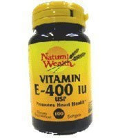 Natural Wealth Vitamin E SFGL 400 IU SYN NAT/WL Size: 100