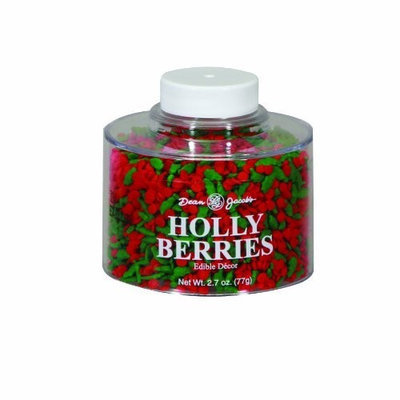 Dean Jacob's Dean Jacobs Holly Berries Stacking Jar, 2.7-Ounce (Pack of 6)