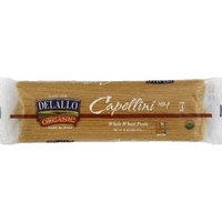 Delallo Organic Pasta Capellini Whole Wheat No.1 -- 1 lb