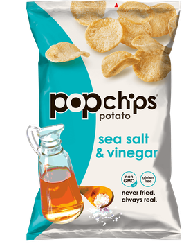 popchips Sea Salt & Vinegar Potato Chips