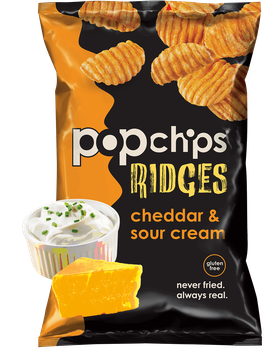 popchips Ridges Cheddar & Sour Cream