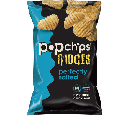 popchips Ridges Perfectly Salted Potato Chips